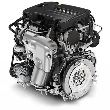 2018 Chevy Malibu Engine White Background