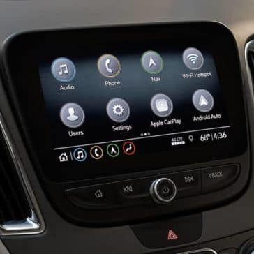 infotainment screen in 2019 Chevrolet Malibu