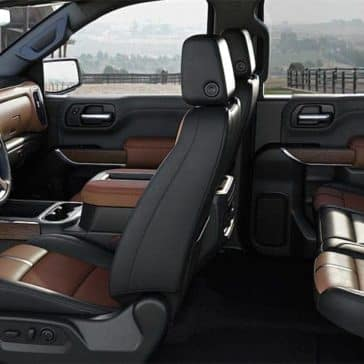 interior cabin of 2019 Chevrolet Silverado
