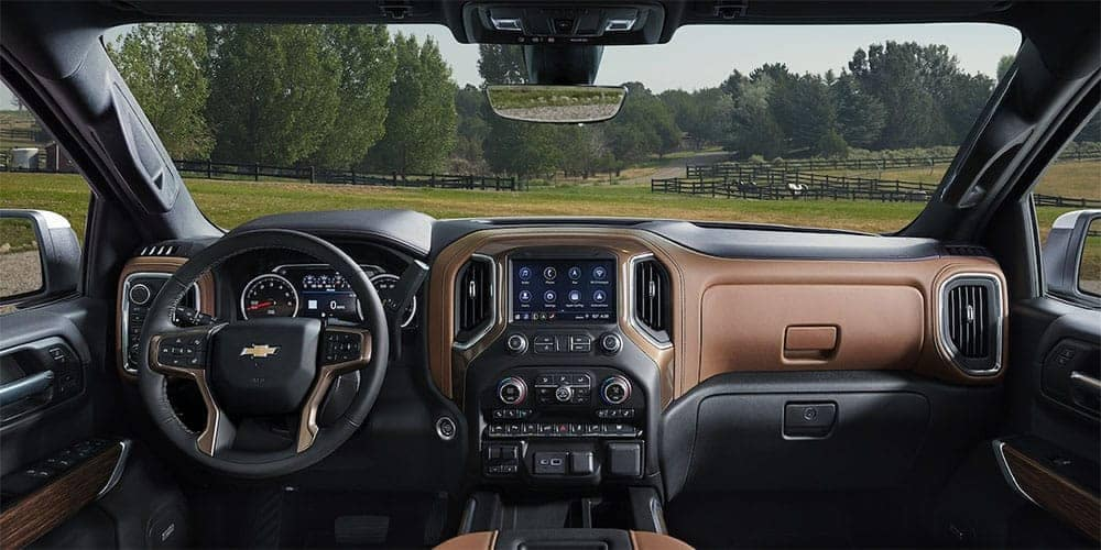 dashboard in 2019 Chevrolet Silverado