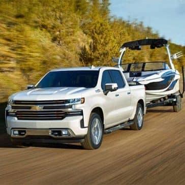 2019 Chevrolet Silverado tows a small boat