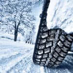 Tires on a winter road