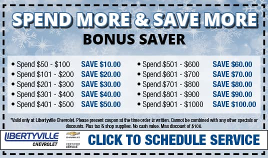 Discount Oil Change >> Chevrolet Oil Change Coupons Auto Service Coupons Libertyville