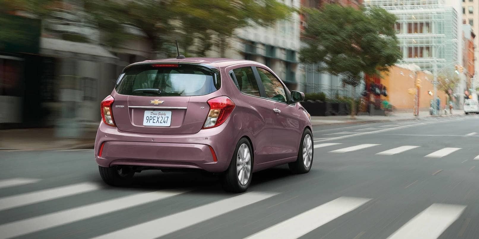 2019 Chevrolet Spark rear on road