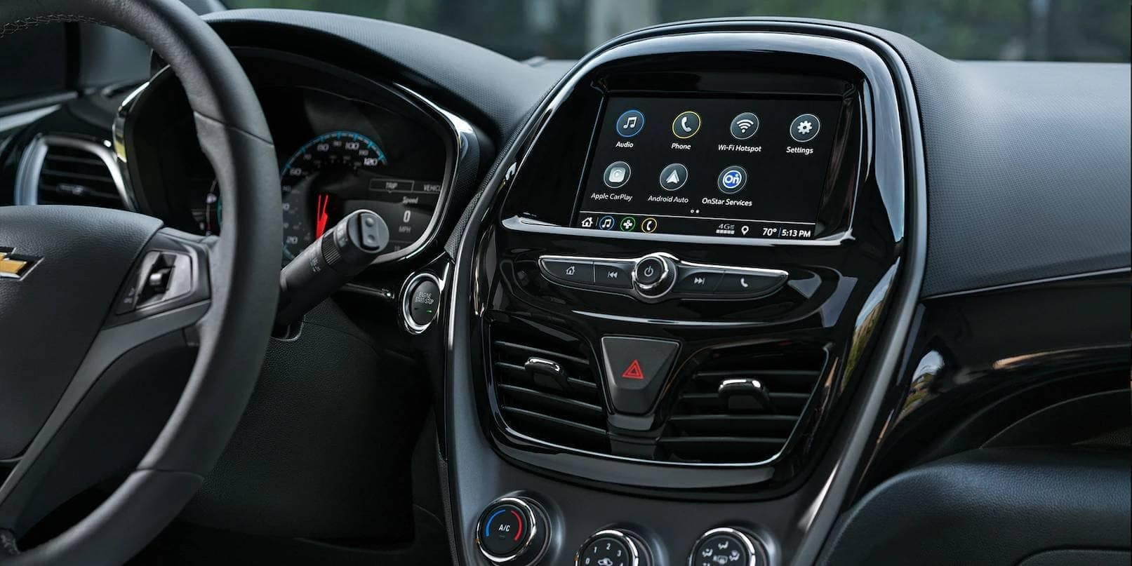 dashboard in 2019 Chevrolet Spark