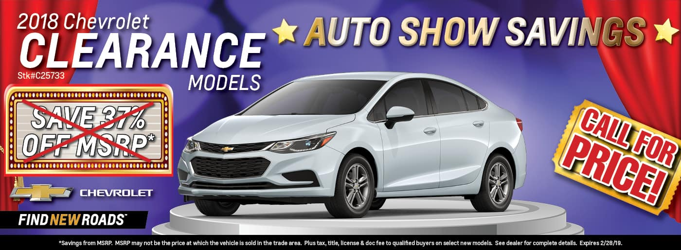 2018 Chevrolet Clearance Models
