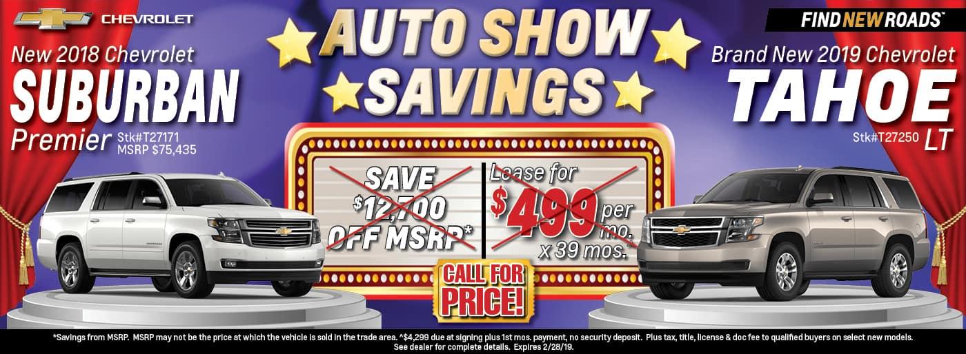 2018 Chevrolet Suburban Premier or 2019 Chevrolet Tahoe LT