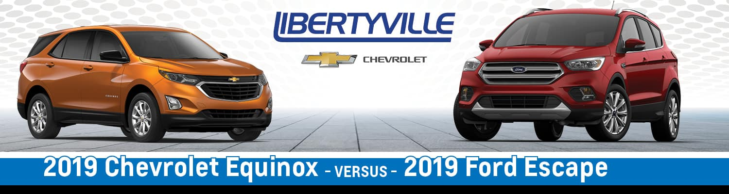 2019 Chevy Equinox vs. 2019 Ford Escape Differences in Libertyville, IL