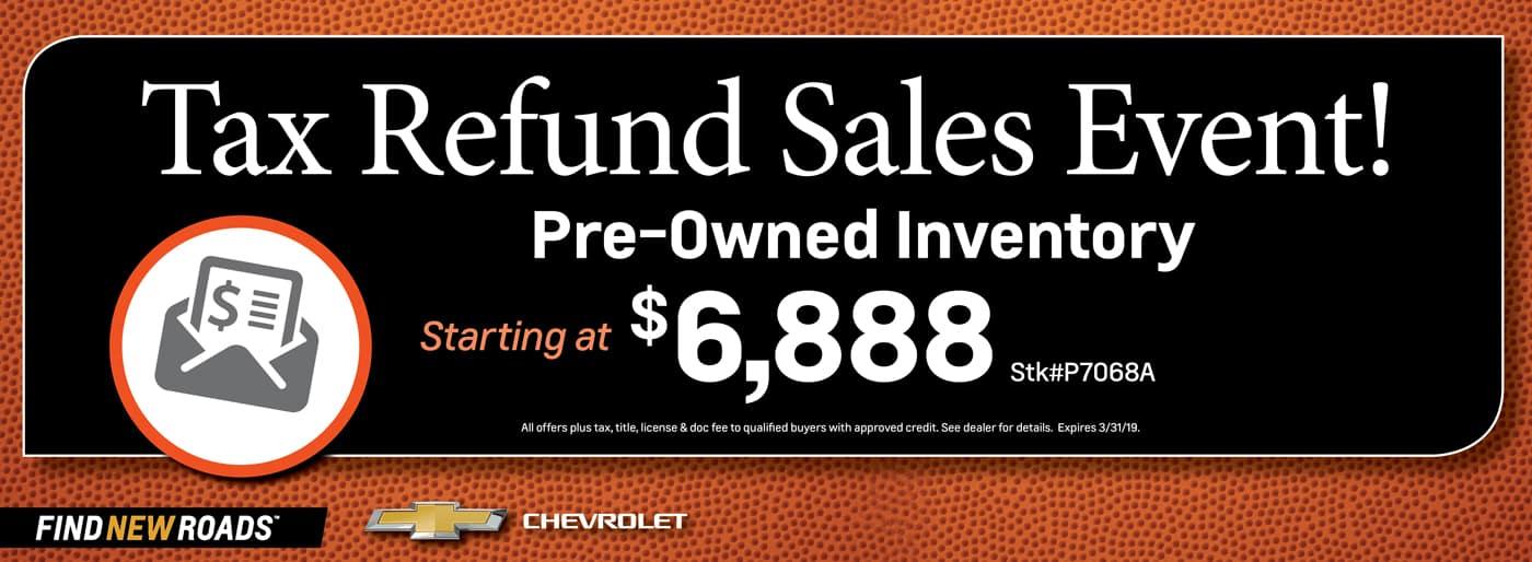 Tax Refund Sales Event