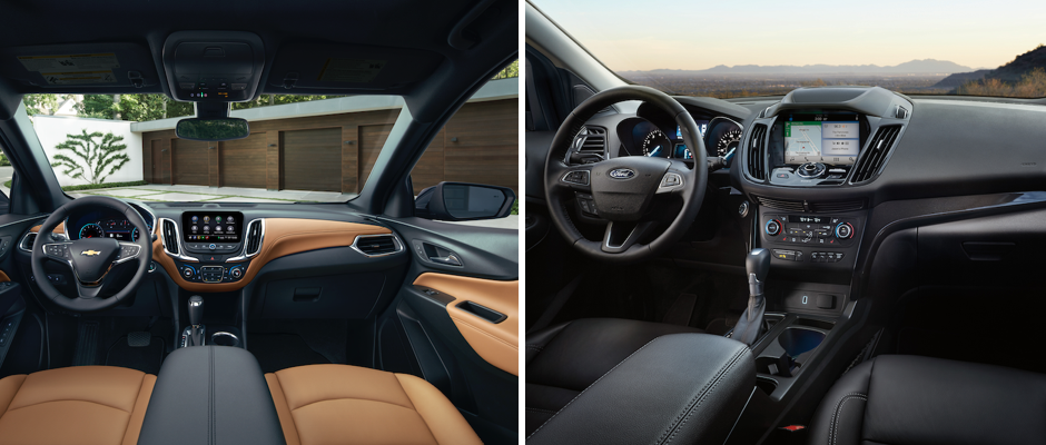 2019 Chevy Equinox vs. 2019 Ford Escape Interior Comparison in Libertyville, IL