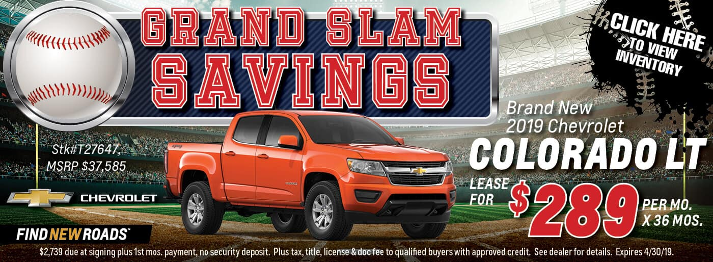 2019 Chevrolet Colorado LT Lease Deal
