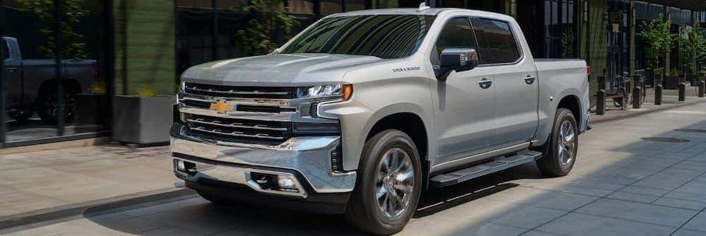 2019 Grey Chevy Silverado 1500 Parked