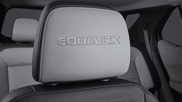 2019 Chevrolet Equinox embroidered front row headrests
