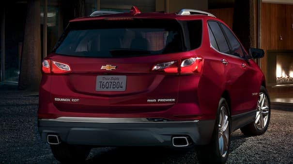 2019 Red Chevrolet Equinox Tinted Rear Window