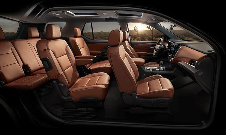 2019 Chevy Traverse Interior Passenger Side Shot