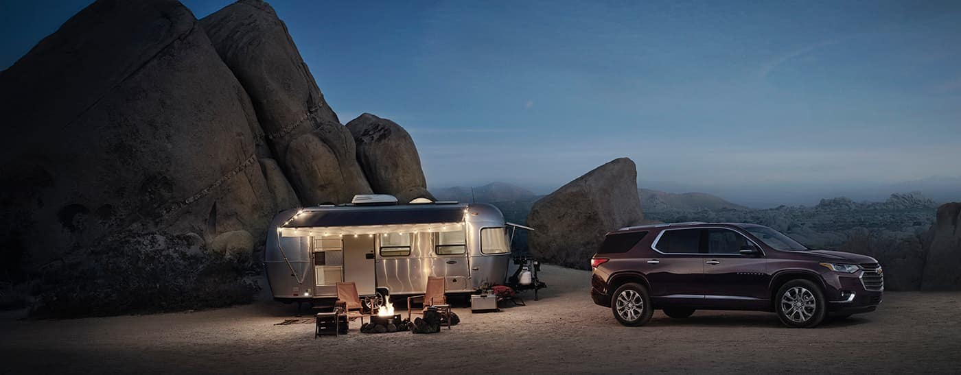 2019 Chevy Traverse Camping in The Desert