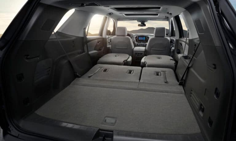 2019 Chevy Traverse Interior Folded Rear Bench