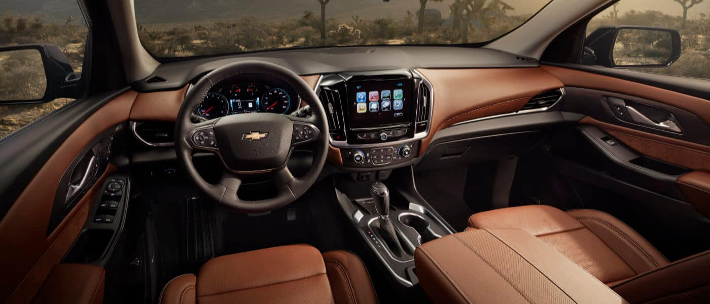 2019 Chevy Traverse Leather Interior Dashboard