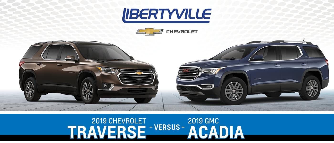 2019 Gmc Acadia Vs 2019 Chevy Traverse A Midsize Suv Comparison