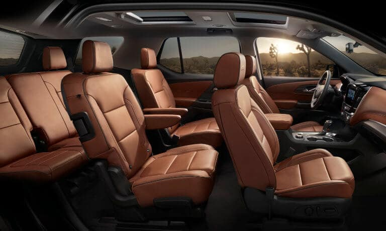 2019 Chevy Traverse interior side seating view