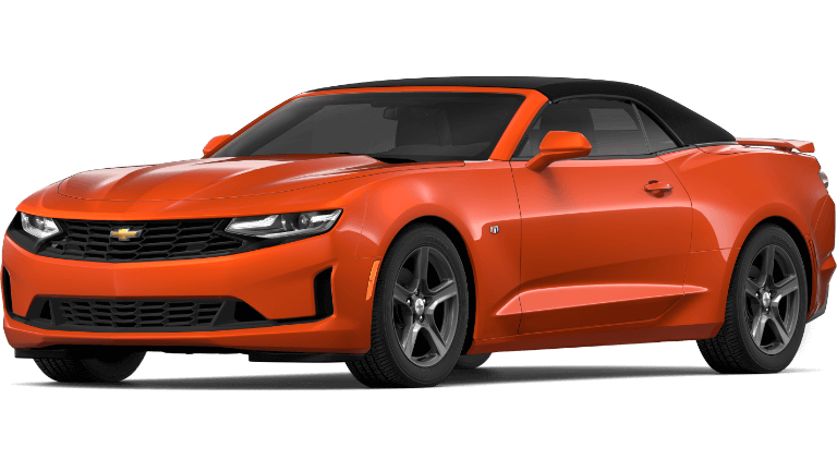 2019 orange Chevrolet Camaro 2LT convertible