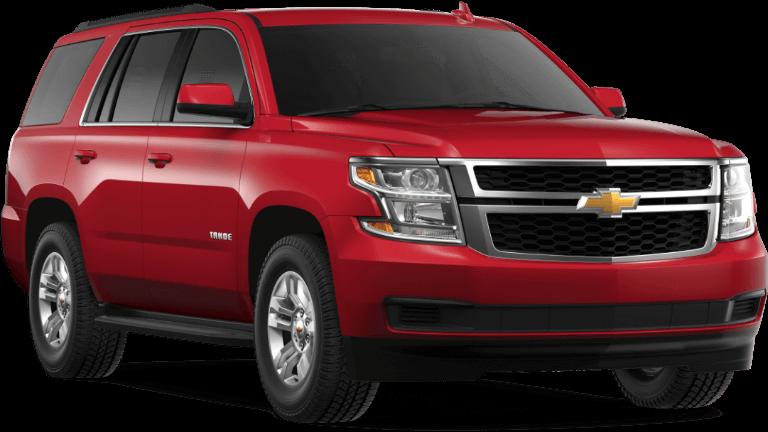2019 red Chevrolet Tahoe LS