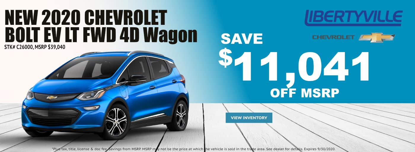 September-2020 Chevrolet Bolt