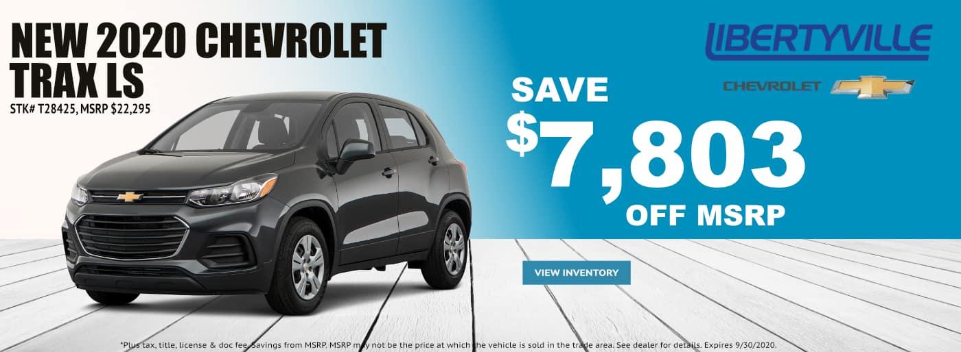 September-2020 Chevrolet TRAX