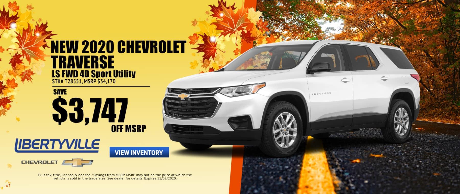 October-2020 Traverse NEW WEBSITE Libertyville