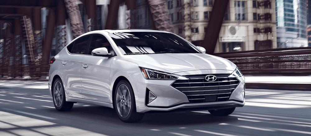2020 Hyundai Elantra driving on city street
