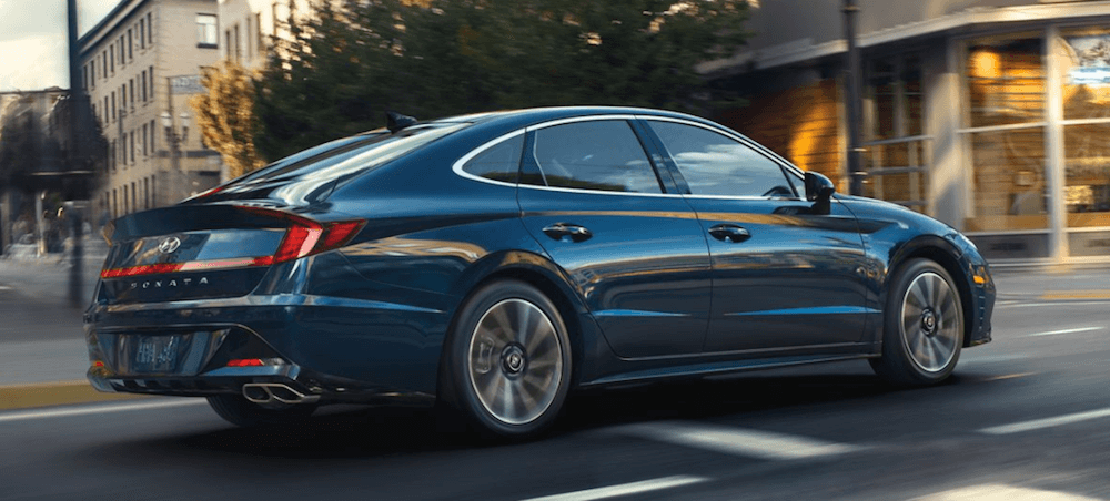 2020 Hyundai Sonata driving on Reno city street