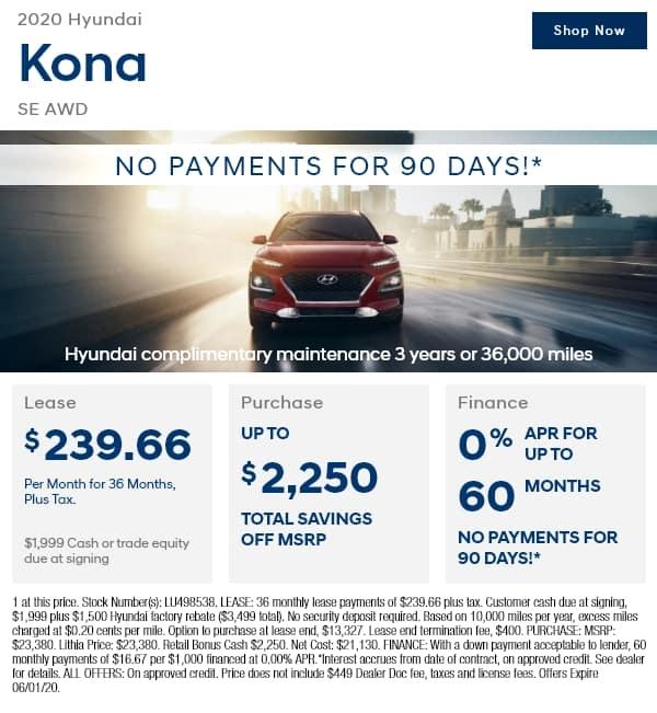 New 2020 Hyundai Kona SE Auto AWD AWD Sport Utility
