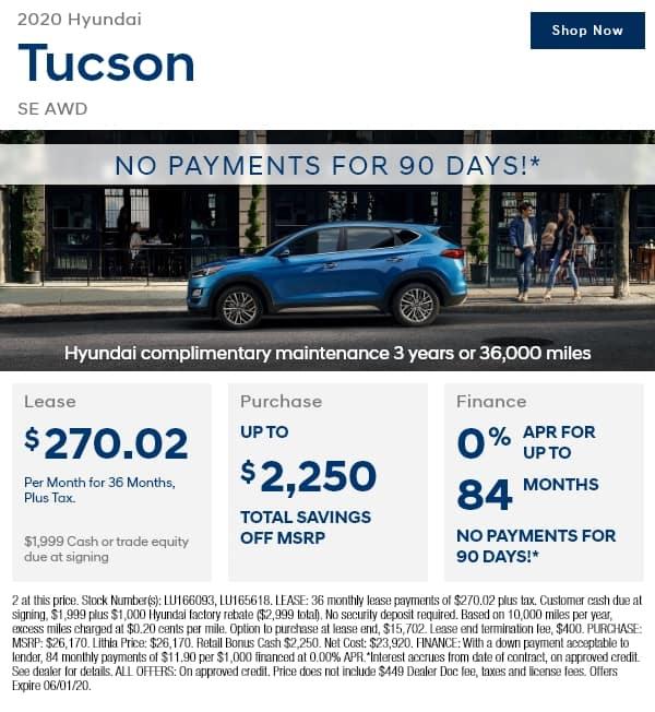 New 2020 Hyundai Tucson SE AWD AWD Sport Utility