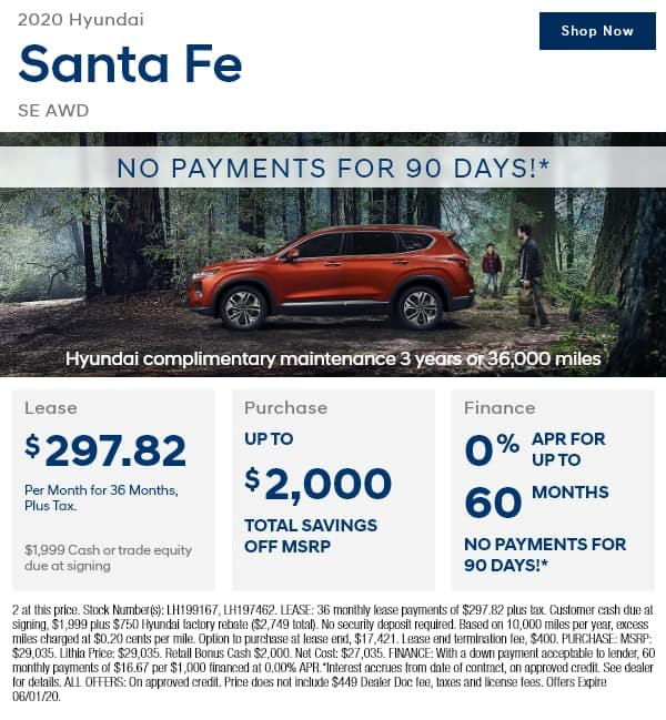New 2020 Hyundai Santa Fe SE 2.4L Auto AWD AWD Sport Utility