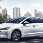 2020 Hyundai Elantra SE parked near city skyline