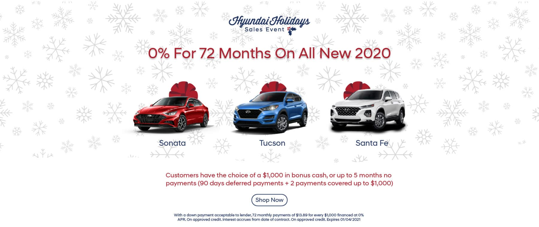 Hyundai Holidays Sales Event