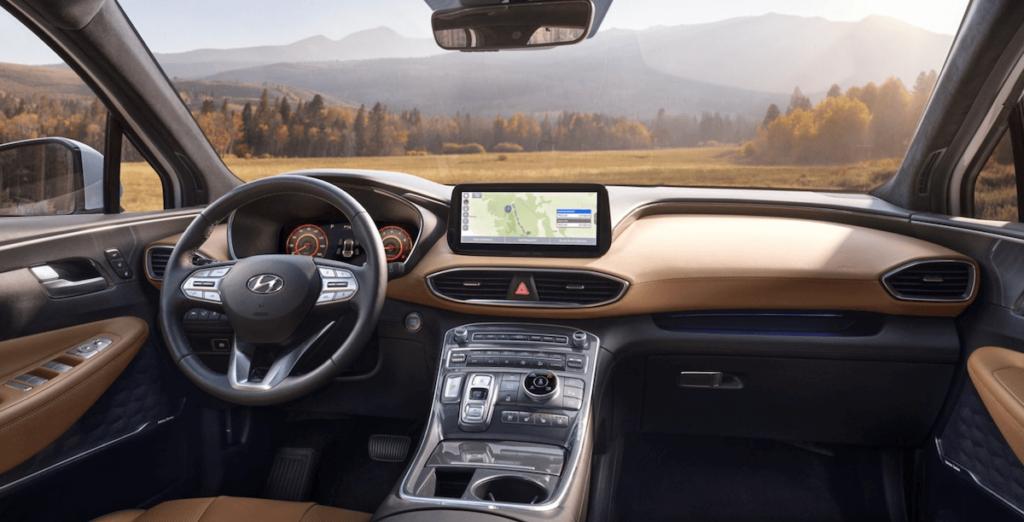 2021 Hyundai Santa Fe Interior Dashboard