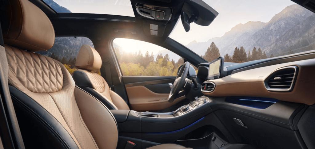 2021 Hyundai Santa Fe Interior Front Seat Banner