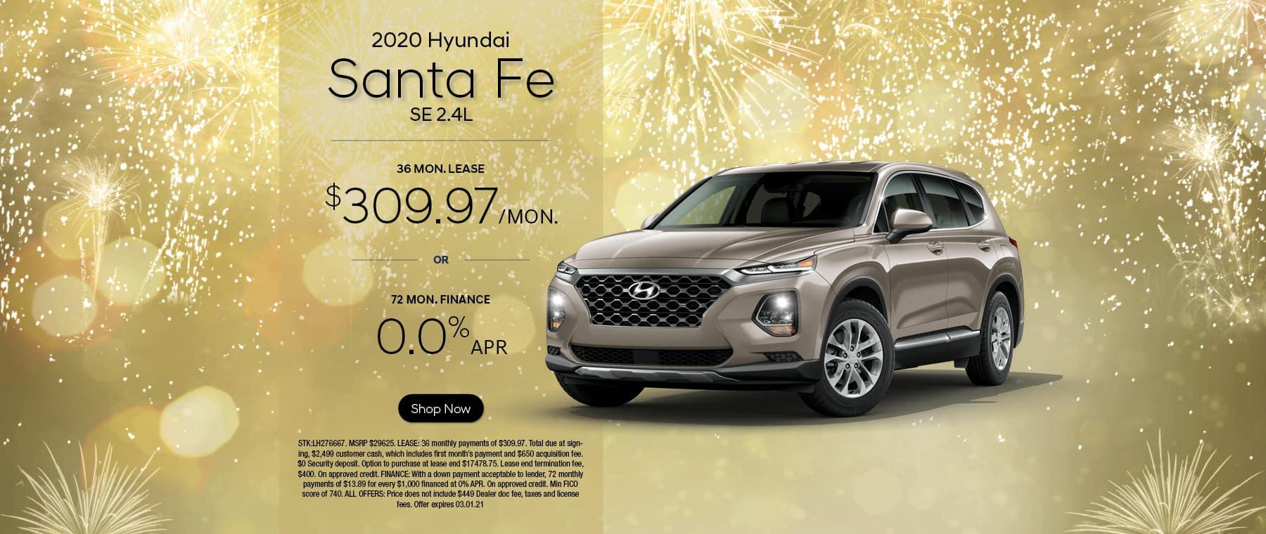 2020 Hyundai Santa Fe SE 2.4L
