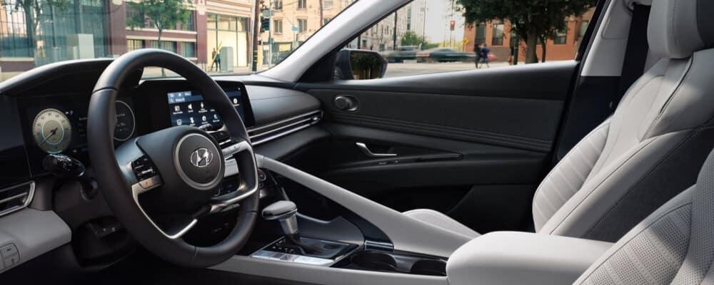 The interior of the 2021 Hyundai Elantra