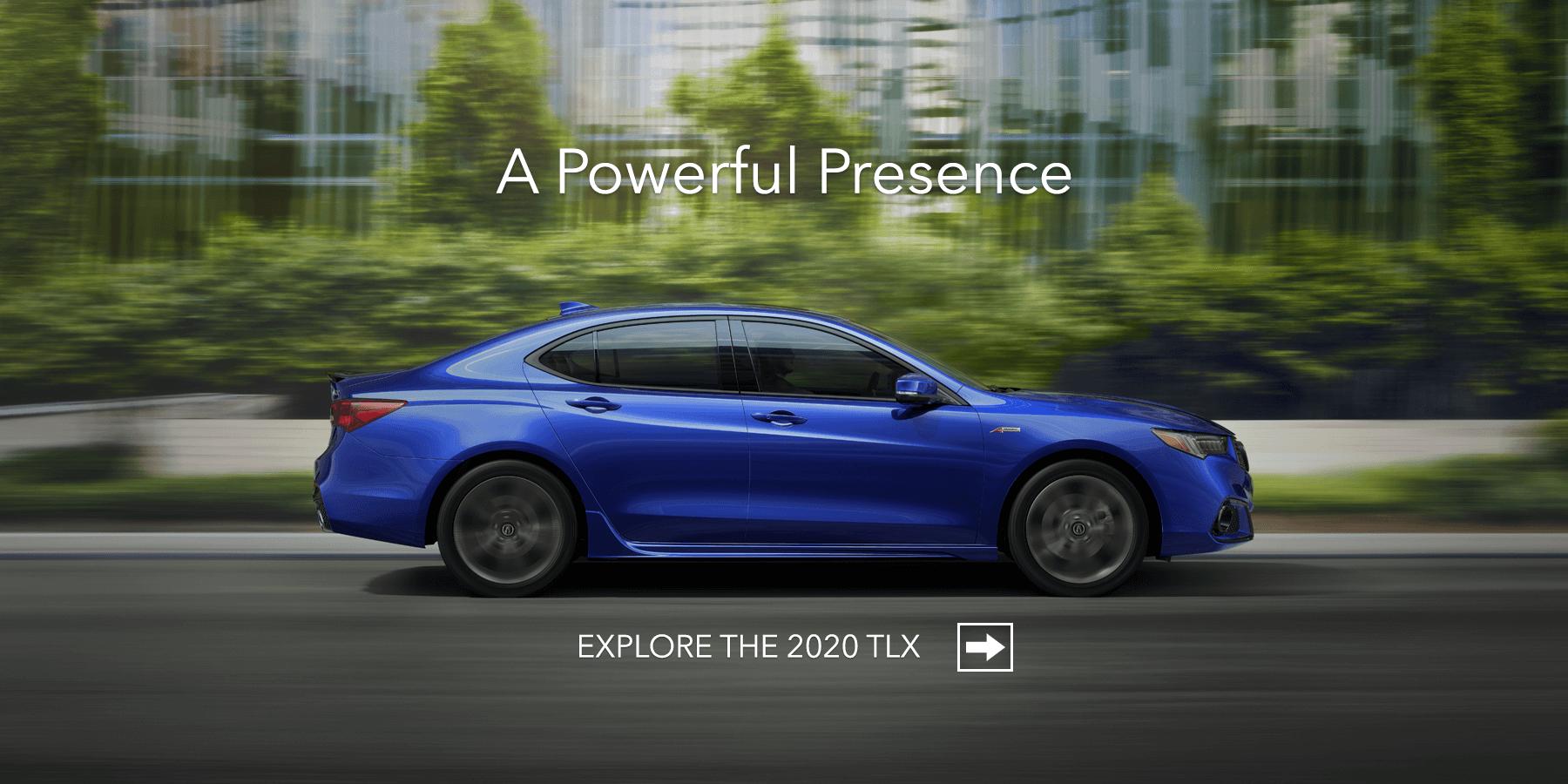 2020 Acura TLX Apex Blue Pearl Side Profile HP Slide