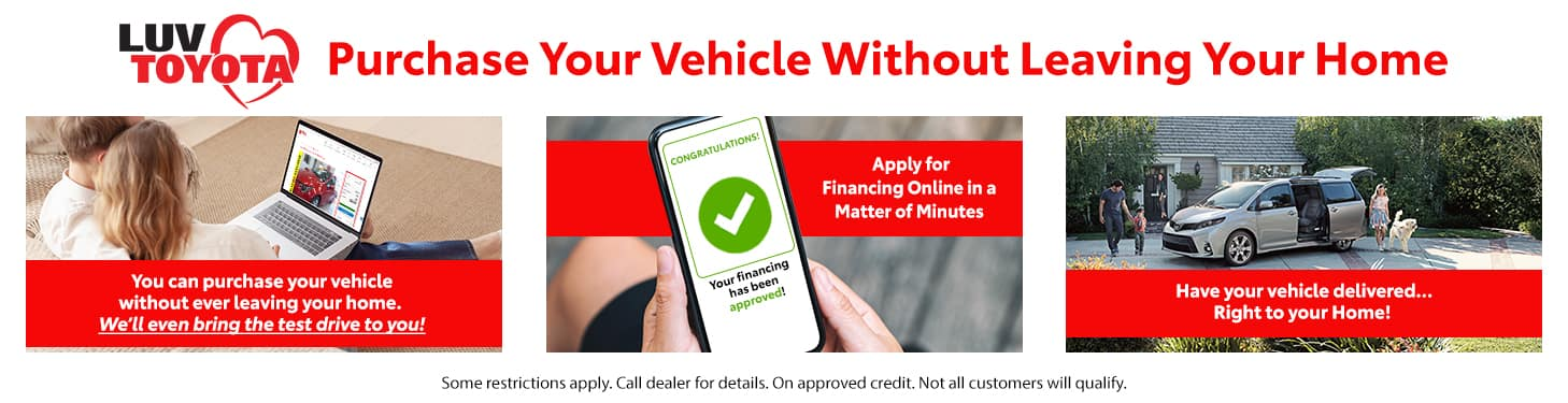 Purchase Your Vehicle Without Leaving Your Home