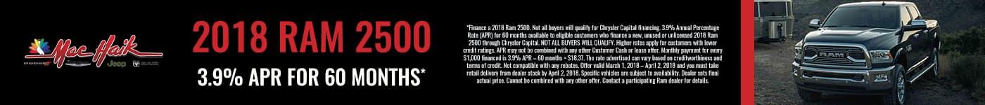 March 2018 RAM 2500 Offer