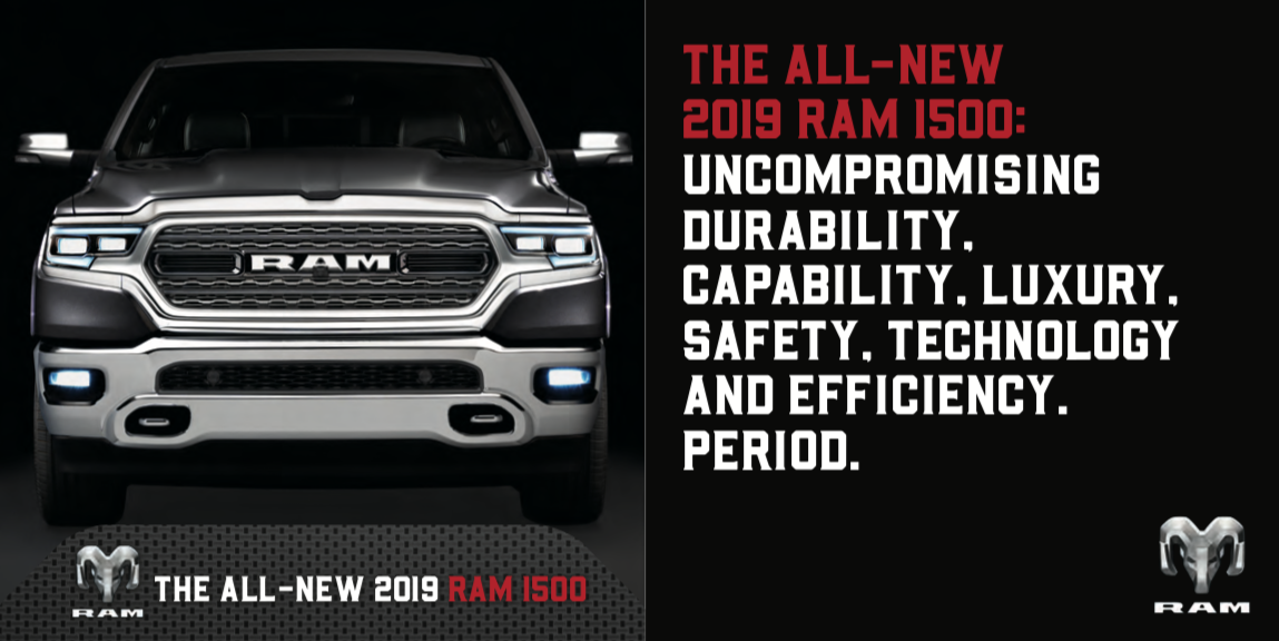 All-new 2019 Ram 1500 Pickup: Luxury, Performance, Technology ...
