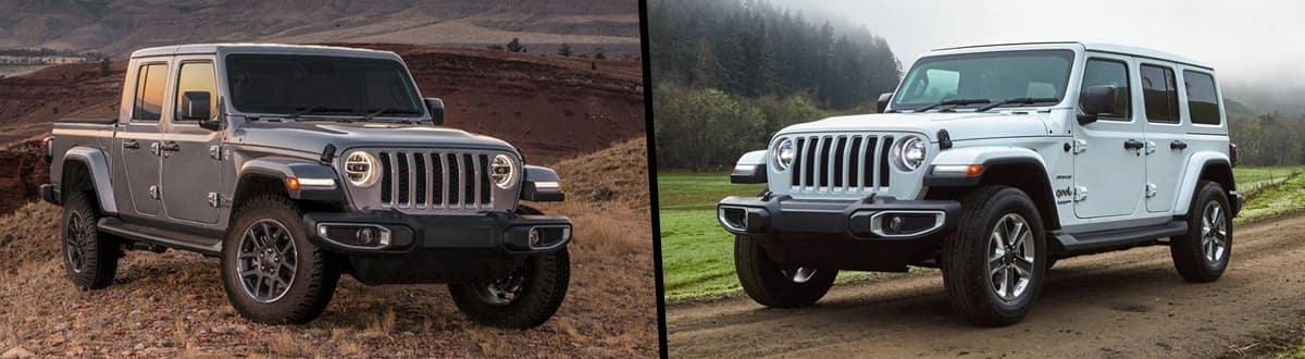 2020 Jeep Gladiator vs 2020 Jeep Wrangler