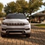 jeep grand wagoneer parked neighborhood