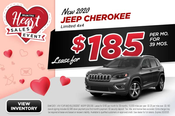NEW 2020 JEEP Cherokee Limited 4x4 Sport Utility