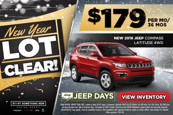 NEW 2018 JEEP COMPASS LATITUDE 4WD