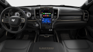 Ram 1500 black interior technology