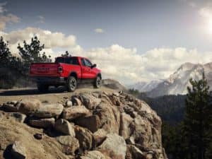 Red Ram 1500 Outdoor back view